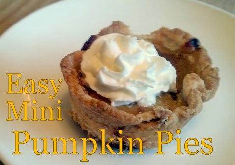 2 Ingredient Mini Pumpkin Pie Recipe