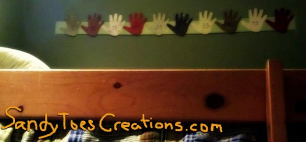 Sandy Toes Creations- Counting by Fives Wall Art