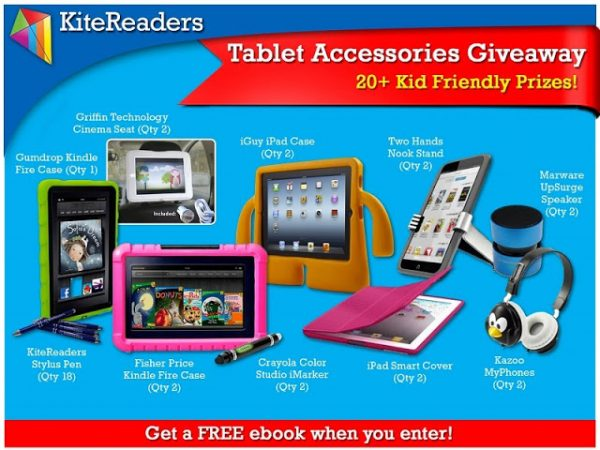 Win Tablet Accessories With FREE Ebook for Every Entrant! -KiteReaders Kid Friendly Prizes Giveaway!