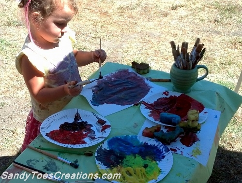 Art Projects for Kids- Primary Colors and Secondary Colors and Paper Mosaics
