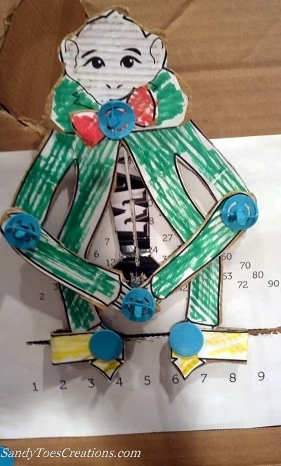 Sandy Toes Creations- Mutliplication Monkey and Cardboard building kit
