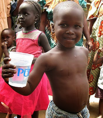 You can save a child's life, give clean drinking water