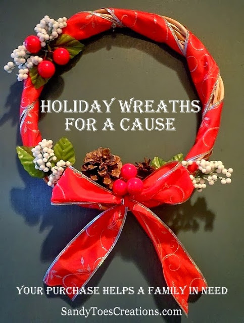 Handmade Holiday Wreaths for a Cause