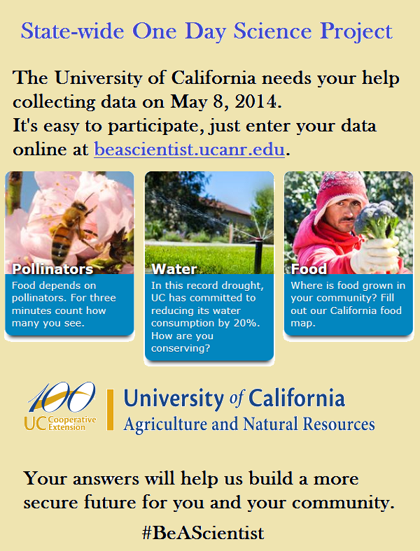 #California Day of #Science May 8th #BeAScientist