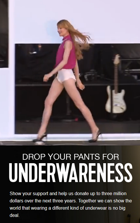 Will You #DropYourPants for #Underwareness? Help Depends donate $3 million to educate & erase shame associated with bladder leakage.