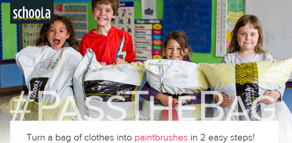 Take the #PassTheBag Challenge- Used Clothes Benefit Schools