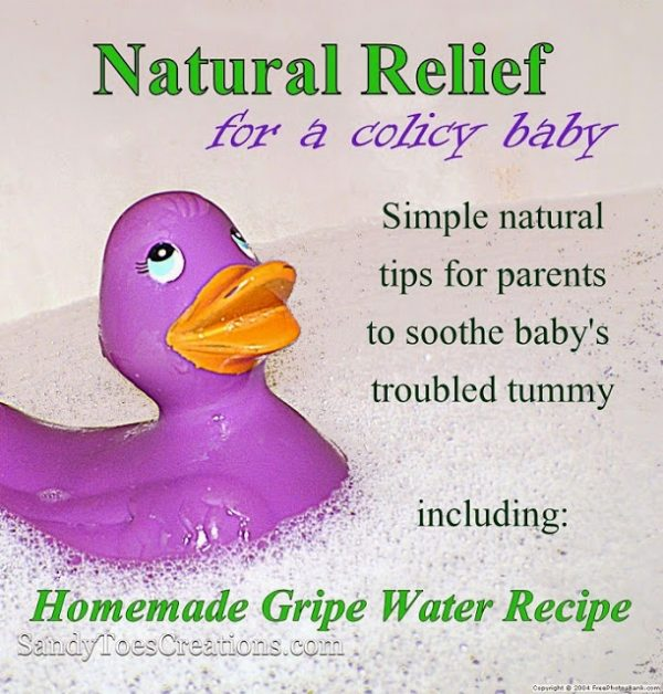 Easy Homemade Gripe Water for Babies and Kids Tummy Aches