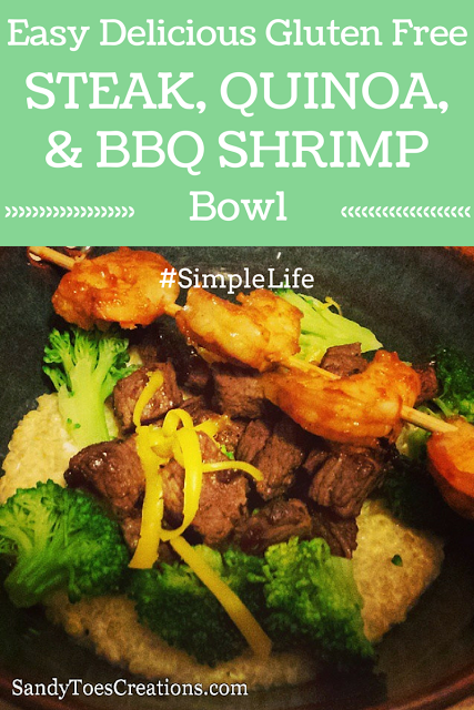 Delicious #GlutenFree Steak Quinoa and Shrimp #SimpleLife #MountainHigh #yoghurt #recipe