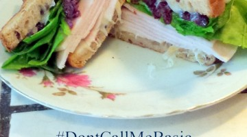 Simple Gourmet Sandwich Recipe. All natural turkey and cranberry, like Thanksgiving dinner in a light summer meal. You can even make this a gluten free lunch. Take your sandwich from boring to amazing