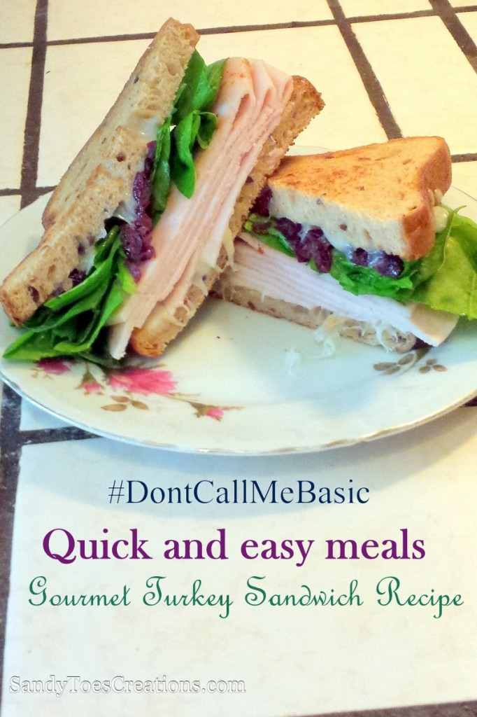 How to take your lunch ideas from boring to fantastic. Gourmet sandwich recipe that is so easy and makes for one delicious lunch. Simple Gourmet Sandwich Recipe. All natural turkey and cranberry, like Thanksgiving dinner in a light summer meal. You can even make this a gluten free lunch.