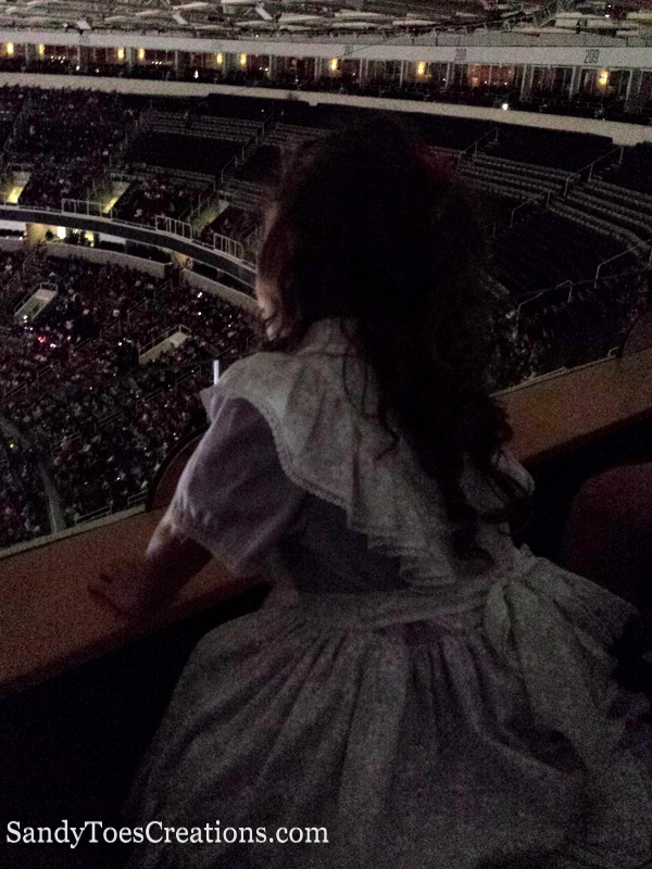 Disney on Ice Dare to Dream watching from the balcony of the SAP center in San Jose, CA #DisneyonIce