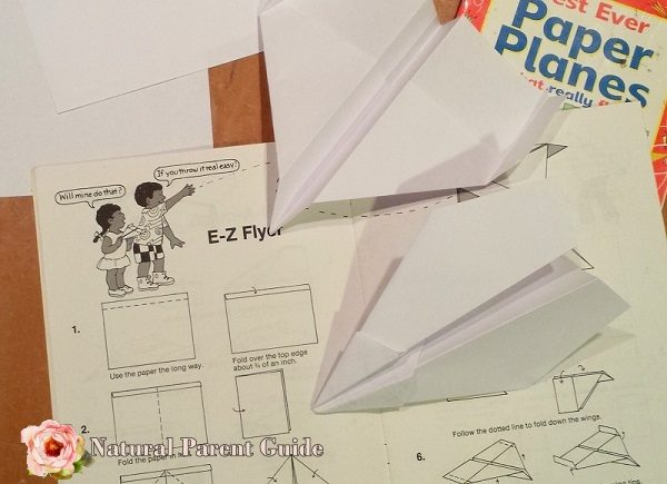Paper airplane making and 28 rainy day kids activities. We all could use some indoor play ideas to keep kids occupied. Enjoy!