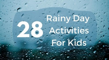 28 rainy day kids activities. We all could use some indoor play ideas to keep kids occupied. Enjoy!