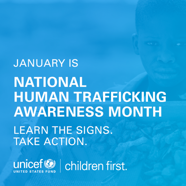 human Trafficking Awareness Month Take Action
