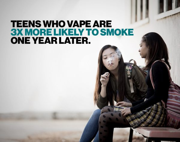 Teens who Vape are more likely to begin smoking and e-cigarettes are harmful to health and environment. CA has changed the age to purchase tobacco products! #tobaccofreeCA #MondayMatters #causes