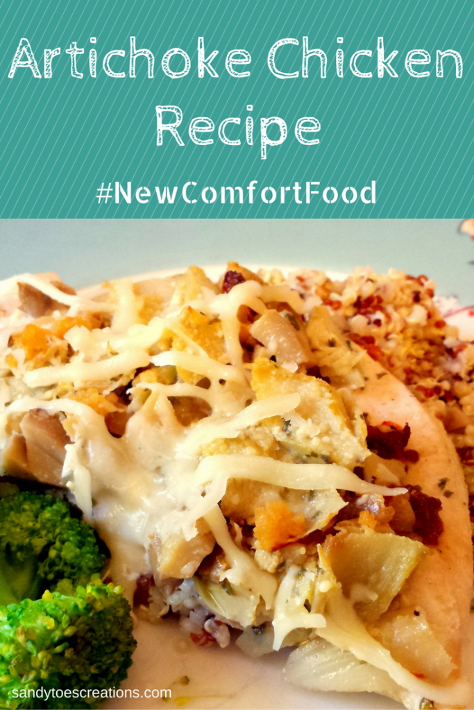 Artichoke Chicken Recipe is a healthy meal your family will love. This delicious dinner is quick and easy to cook. Plus more NewComfortFood chicken dinner recipes AD