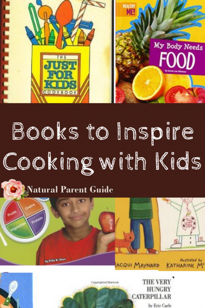 Books to inspire cooking with kids, kids cookbooks, easy healthy recipes kids can make and food kids love to eat. Plus books for kids about healthy foods and how food affects our bodies.