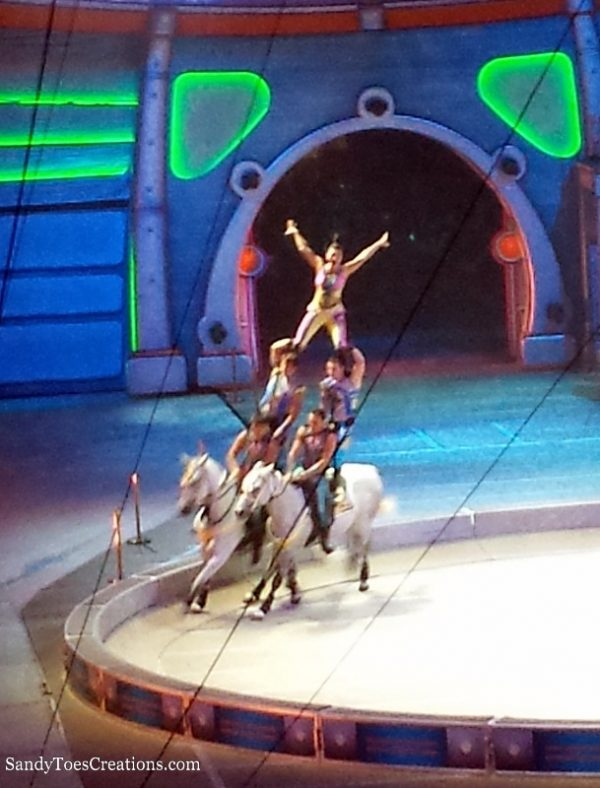 My favorite part of the Circus - Acrobatics on horseback! Ringling Bros and Barnum & Bailey Out of This World Show ad