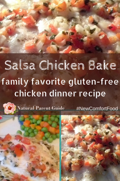Delicious Gluten Free Salsa Chicken Dinner Bake Recipe. Clean eating, quick and easy family meals that kids love! Chicken has never packed so much flavor in healthy foods and hearty meals. This gluten-free recipe may be your new favorite holiday dish. NewComfortFood AD