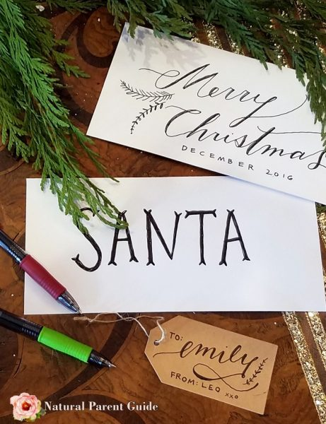 Elegant Christmas tags are easy to make with the new G2 Pilot Pen. Calligraphy writing Holiday tags ad @pilotpenusa