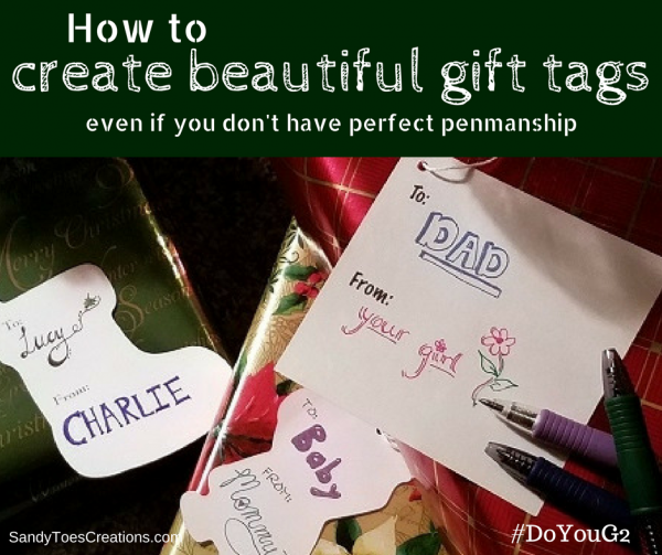 How to make beautiful holiday gift tags or name tags and cards DoYourG2 ad writing calligraphy DIY Christmas gifts wrapping