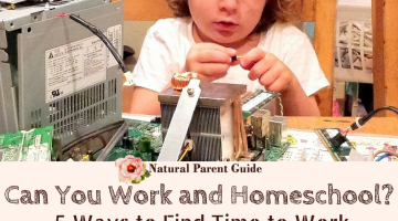 Can you work and homeschool? Here are 5 tips to find the time for working while till providing a rich learning environment for your kids. Plus ideas for flexible work and coping with the changes your family will encounter