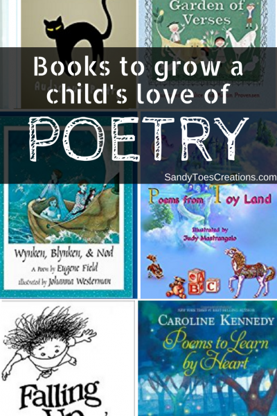 Childrens books to grow a love of poetry #wtrw good reads for kids | parenting | homeschool | learning | poems kids love