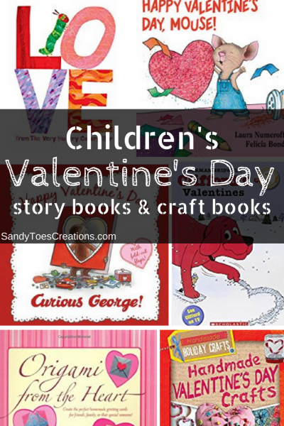 Kids Valentines Day books and craft books Valentine crafts handmade valentine gifts #wtrw