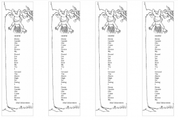 Shel Silverstien bookmark printable