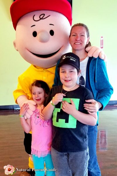 Meeting Charlie Brown at Great America