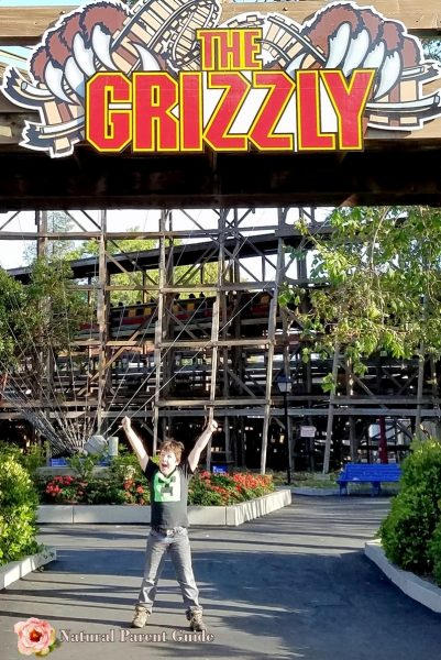 Thrilled to be tall enough to ride the Grizzly at Great America