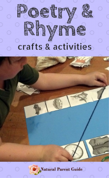 Poetry and rhyming crafts and activities | homeschooling | poetry unit study | early learning literature | early reading | preschool | early elementary | poems for kids | poetry crafts | homeschooling curriculum