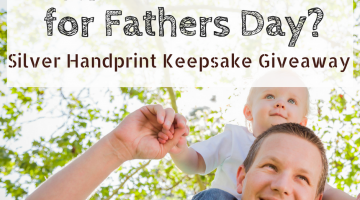 Handprint Jewelry Keepsake Fathers Day Gift Giveaway worth $180!