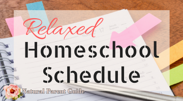 Relaxed homeschool schedule