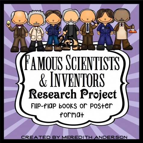 Famous Scientists and Inventors lap book printables
