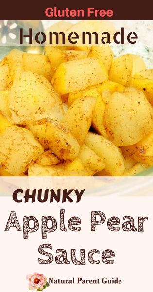 Homemade chunky apple pear sauce recipe | gluten free desserts | chunky apple sauce | fruit desserts no sugar added | cinnamon apple dessert | crustless apple pie filling