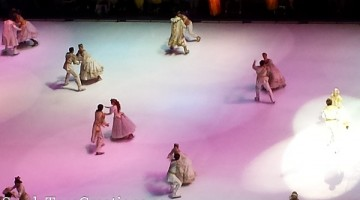 Disney Princess ball at Disney on Ice Dare to Dream. Wonderful family event. One of my favorite kids shows
