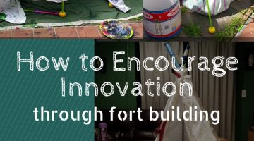 How to encourage innovation and creativity through fort building with kids #spendsummerfearless #galileocamps