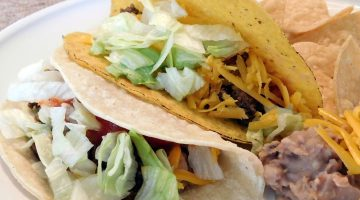 clean eating beef tacos